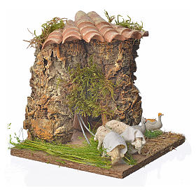 Animated nativity scene figurine, sheep browsing 12-18cm s3