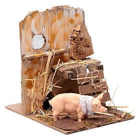 Animated nativity figurine, pig, 9cm s3