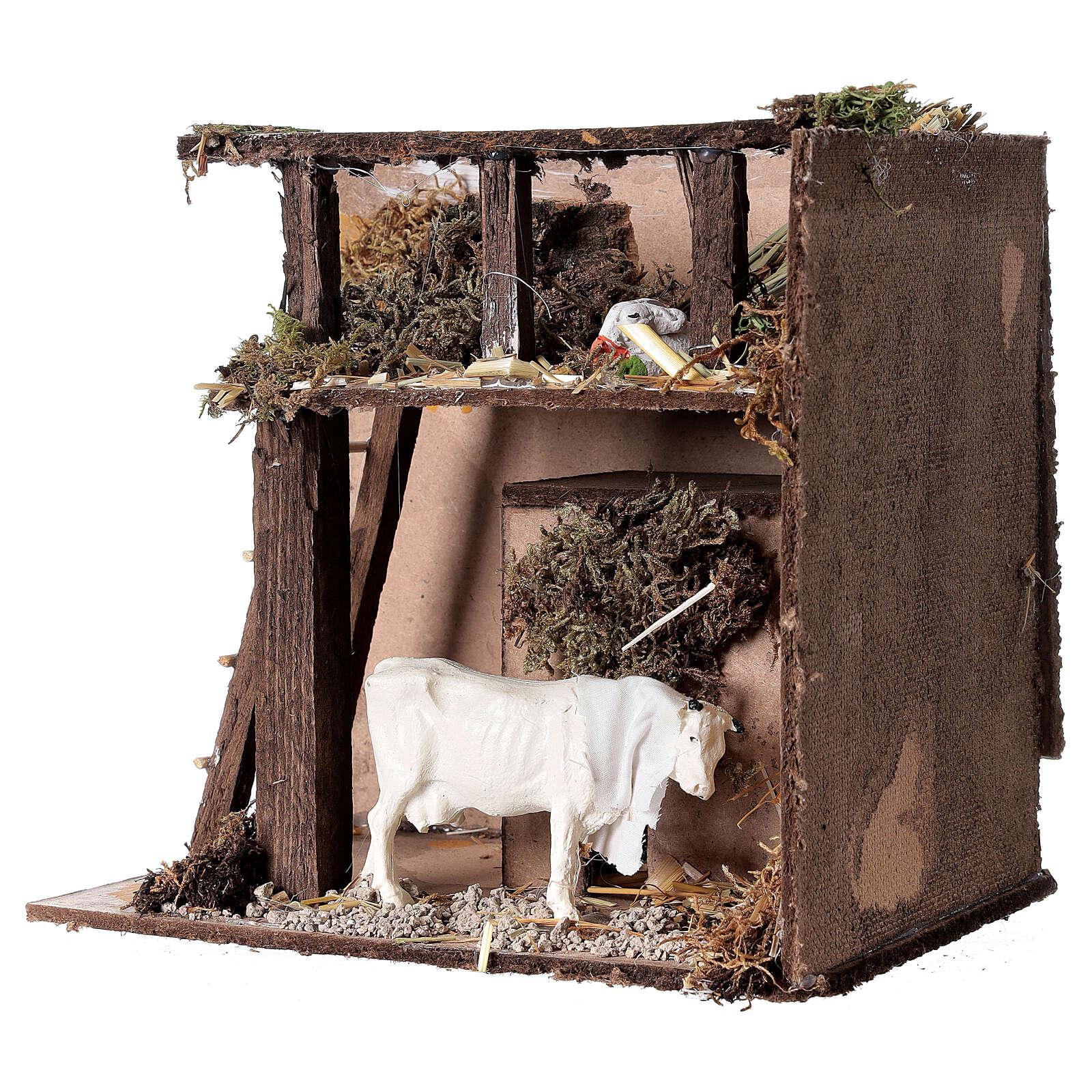 Animated nativity figurine, cow, 7cm 3
