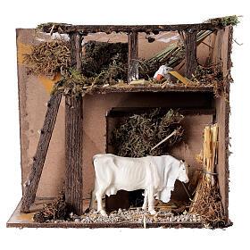 Animated nativity figurine, cow, 7cm s1