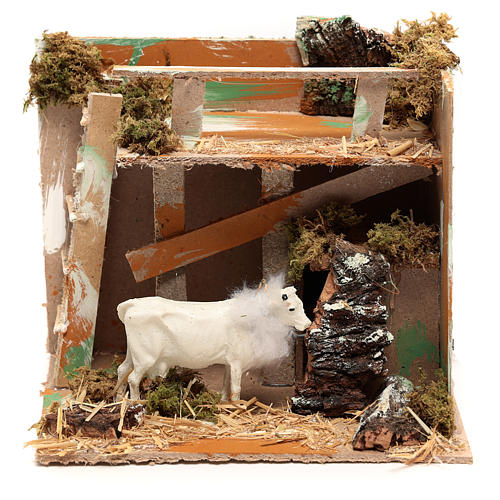 Animated nativity figurine, cow, 7cm 5