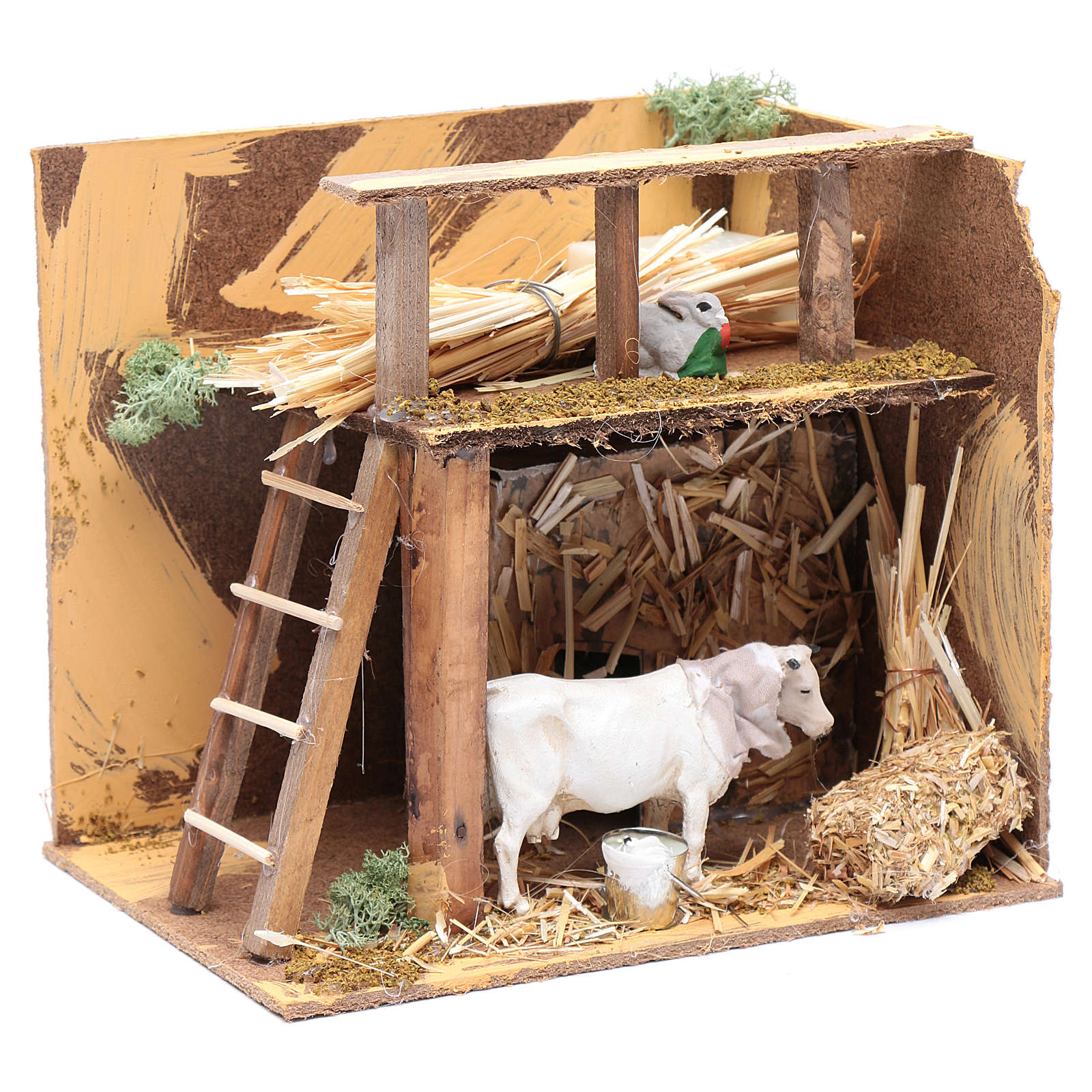 Animated nativity figurine, cow, 7cm 3
