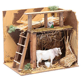Animated nativity figurine, cow, 7cm s3