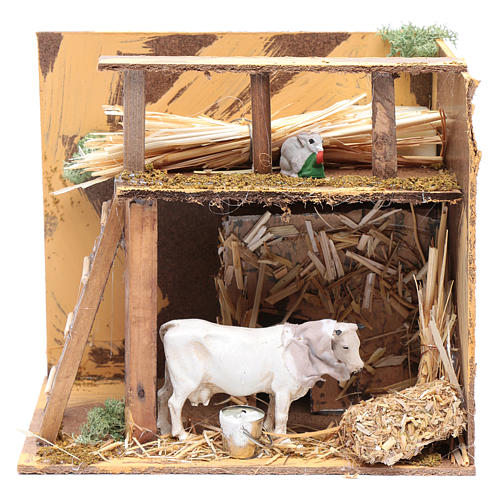 Animated nativity figurine, cow, 7cm 1