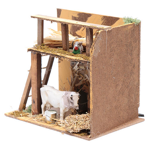 Animated nativity figurine, cow, 7cm 2
