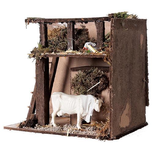 Animated nativity figurine, cow, 7cm 2