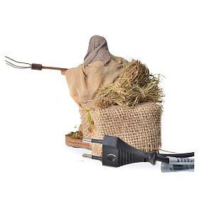 Campesino con heno 10 cm movimiento Belén Napolitano s4