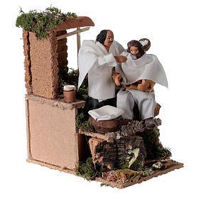 Barber, 8cm animated nativity 9x14x16.5cm s3