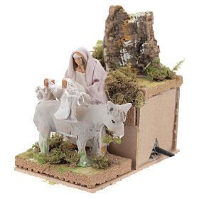 Shepherd with donkey, 8cm animated nativity s2