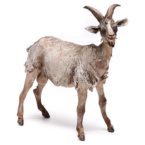Shepherd with donkey, 8cm animated nativity 4