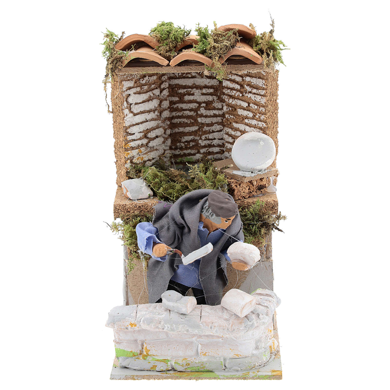 Builder, 8cm animated nativity 3