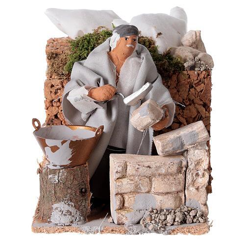 Builder, 8cm animated nativity 5