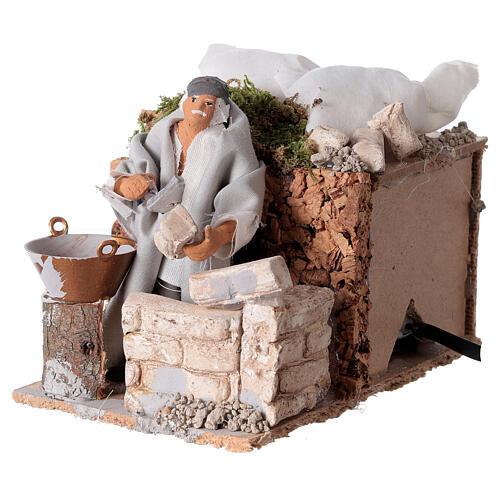 Builder, 8cm animated nativity 6
