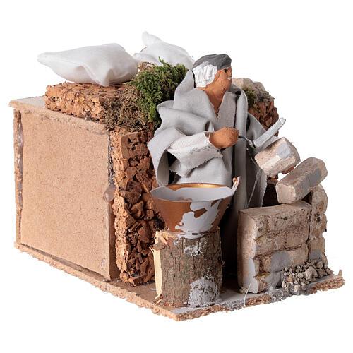 Builder, 8cm animated nativity 7