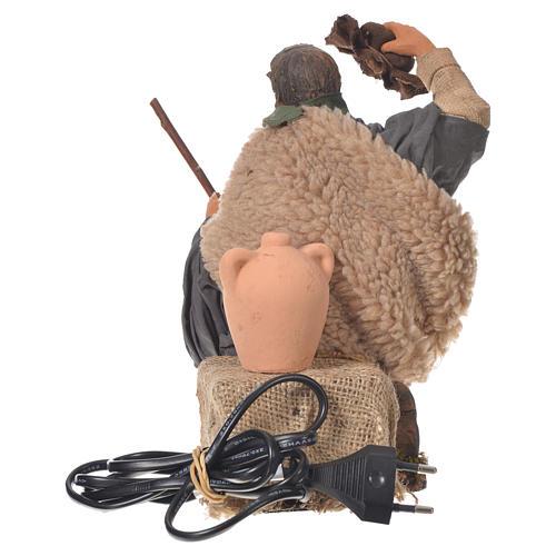 Homme qui retire son chapeau 30 cm mouvement crèche Naples 5