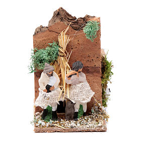Piper with 2 movements, animated nativity figurine 10cm s1