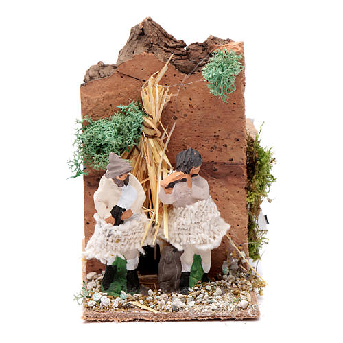 Piper with 2 movements, animated nativity figurine 10cm 1