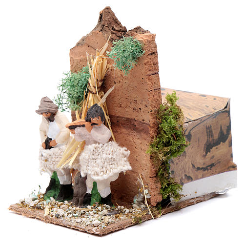 Piper with 2 movements, animated nativity figurine 10cm 2