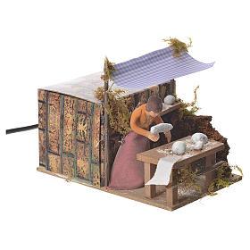 Woman kneading bread, 7cm animated nativity s2