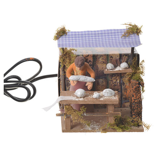 Woman kneading bread, 7cm animated nativity 5