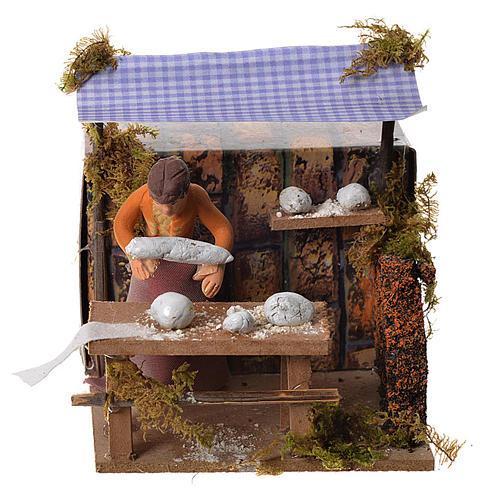 Woman kneading bread, 7cm animated nativity 1