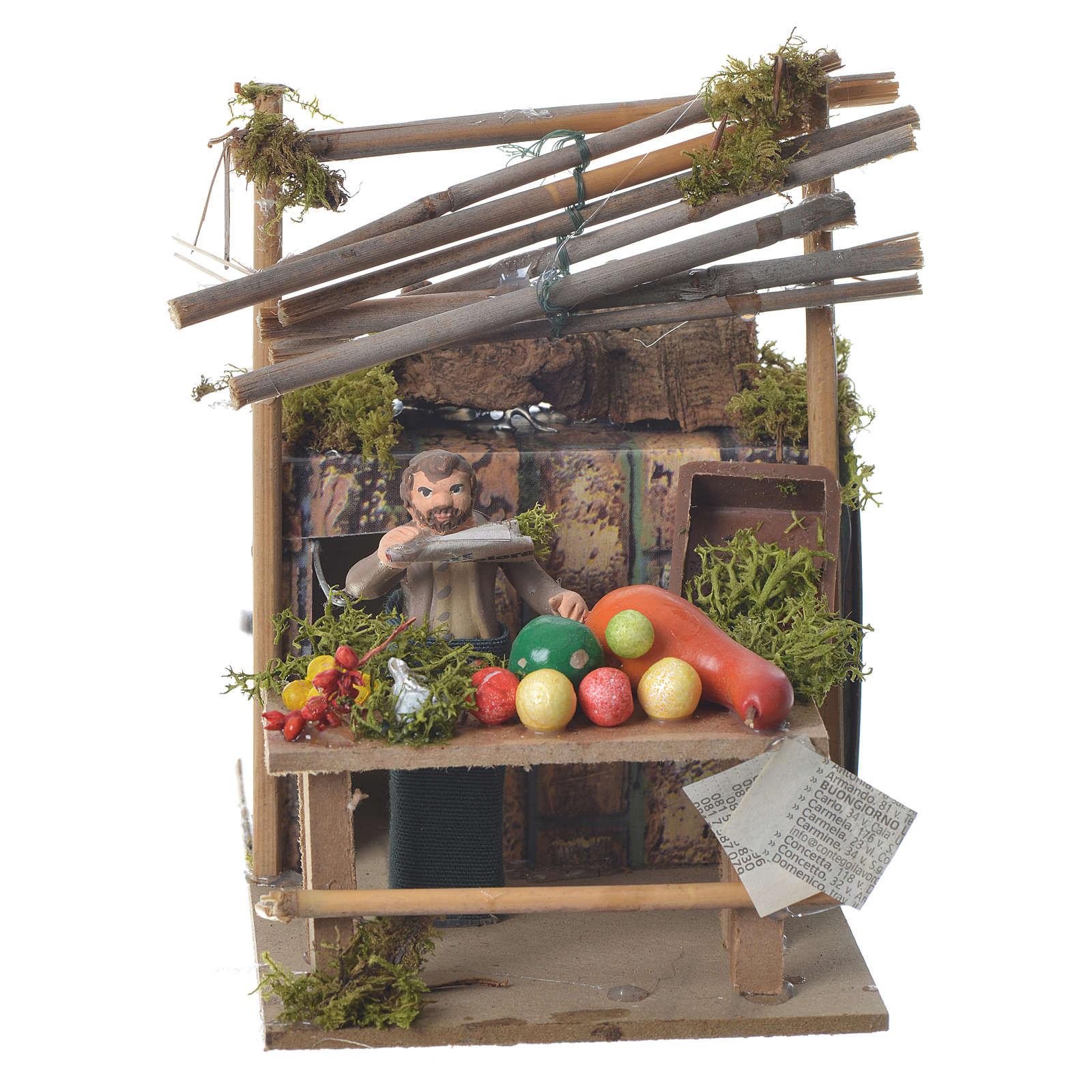 Venditore di frutta 7 cm movimento presepe 3