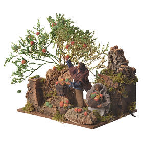 Man picking apples, 12cm animated nativity s3