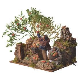 Man picking apples, 12cm animated nativity s3