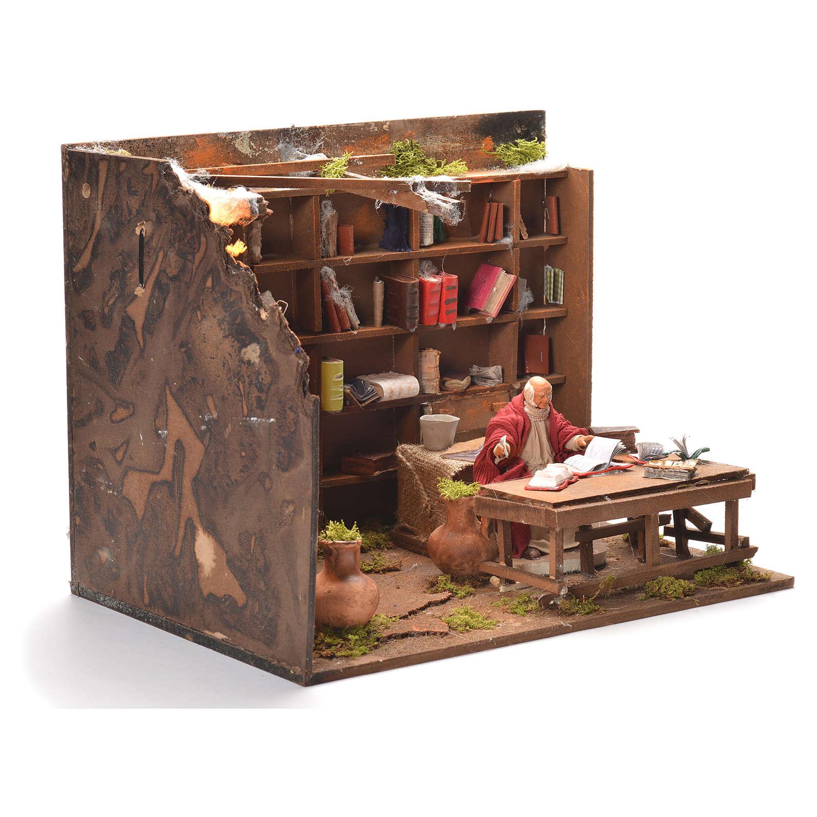 Libreria 12 cm presepe napoletano 4