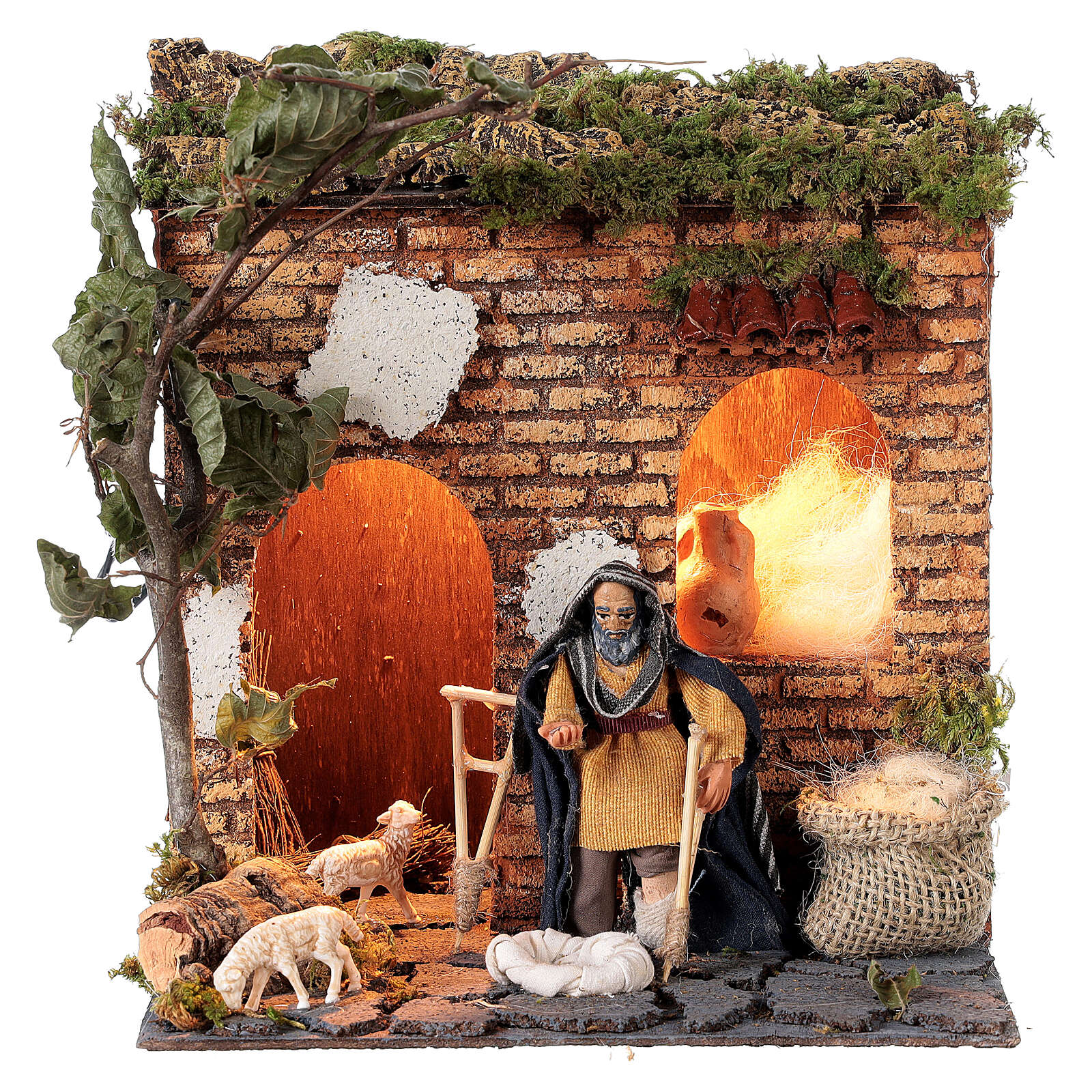 Animated beggar 10cm Neapolitan Nativity 4