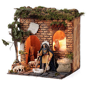 Animated beggar 10cm Neapolitan Nativity s2