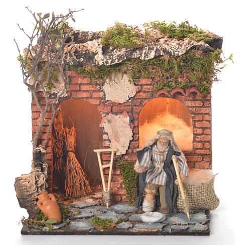 Animated beggar 10cm Neapolitan Nativity 1