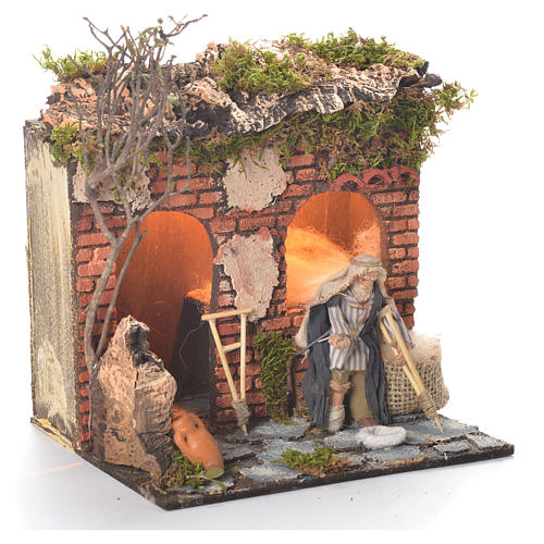 Animated beggar 10cm Neapolitan Nativity 2