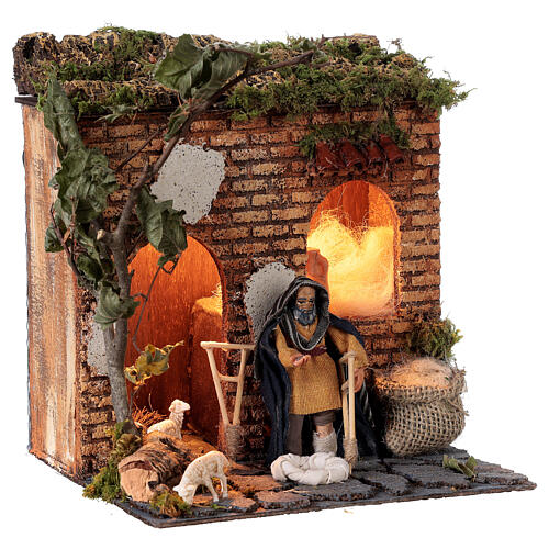 Animated beggar 10cm Neapolitan Nativity 3