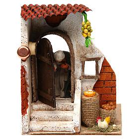 Woman at the door 10cm Neapolitan Nativity s1