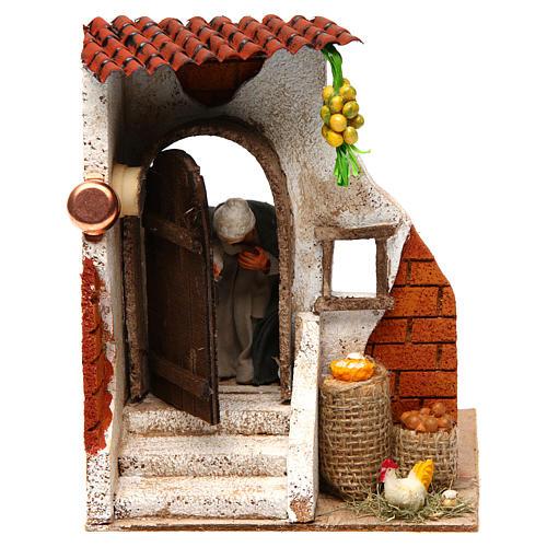 Woman at the door 10cm Neapolitan Nativity 1