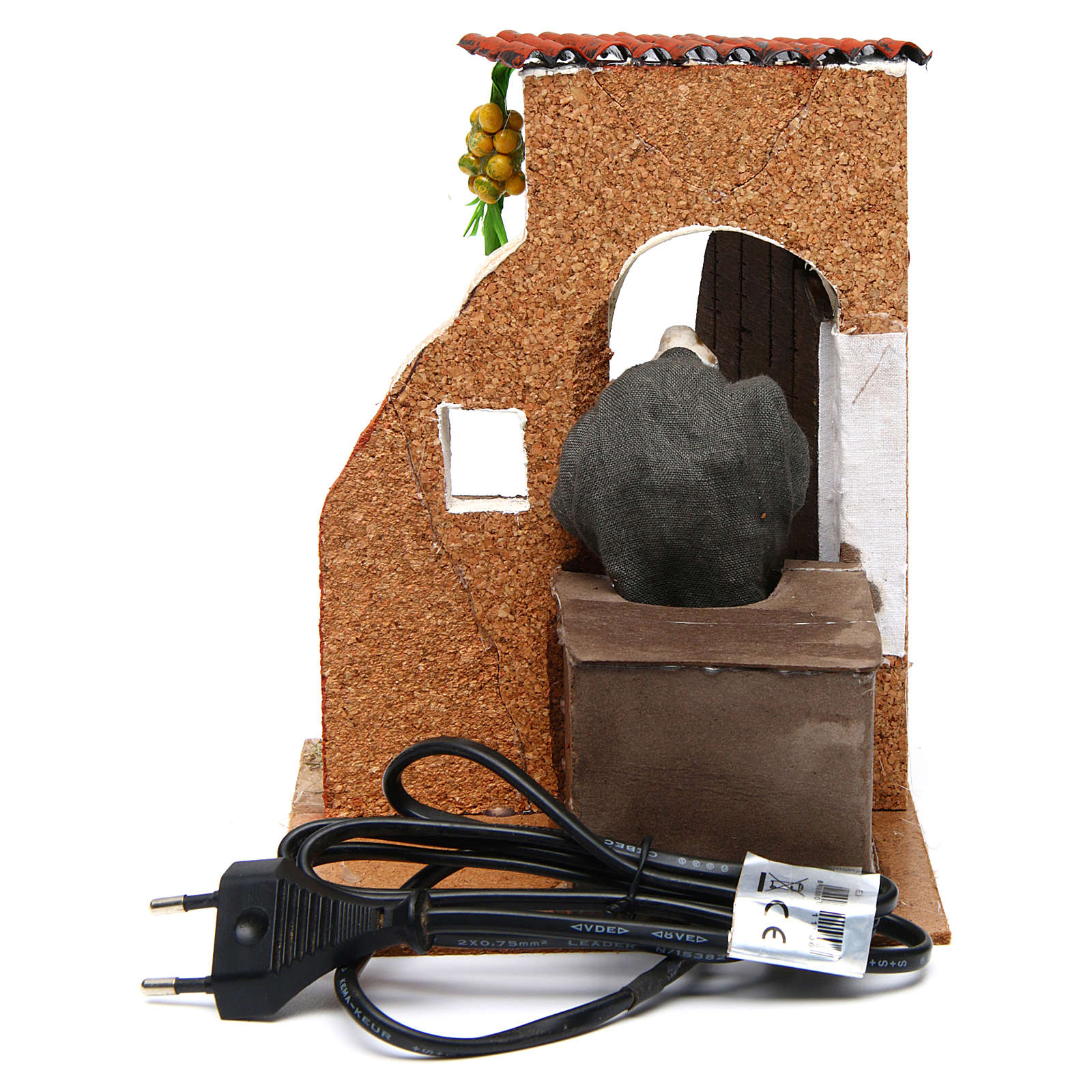 Mujer en la puerta figura movimiento pesebre napolitano 10 cm 4