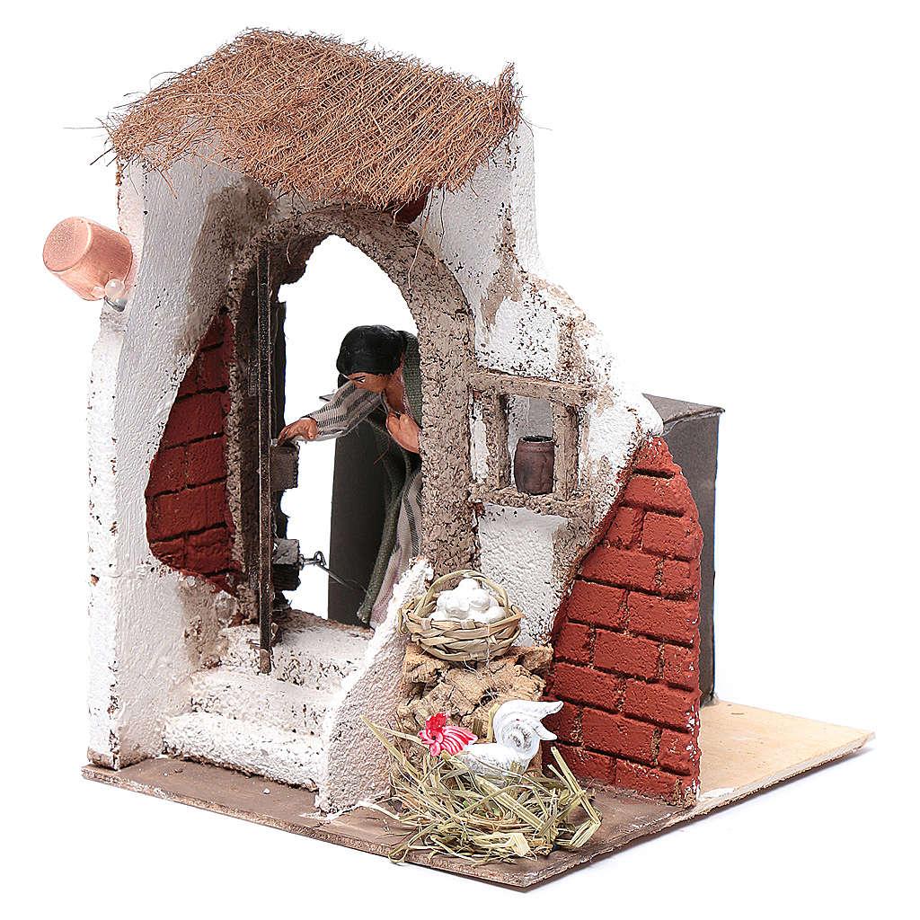 Signora alla porta 10 cm presepe Napoli 4