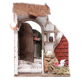 Signora alla porta 10 cm presepe Napoli s1