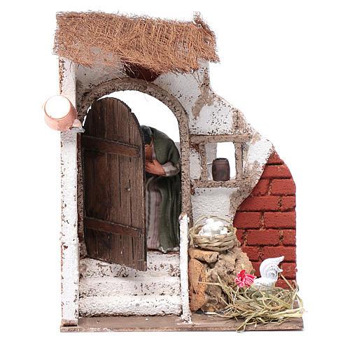 Signora alla porta 10 cm presepe Napoli 1