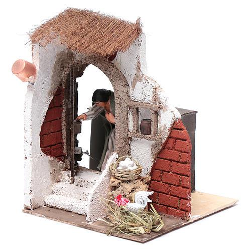 Signora alla porta 10 cm presepe Napoli 2