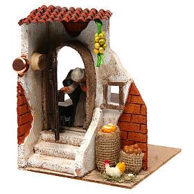 Woman at the door 10cm Neapolitan Nativity s2