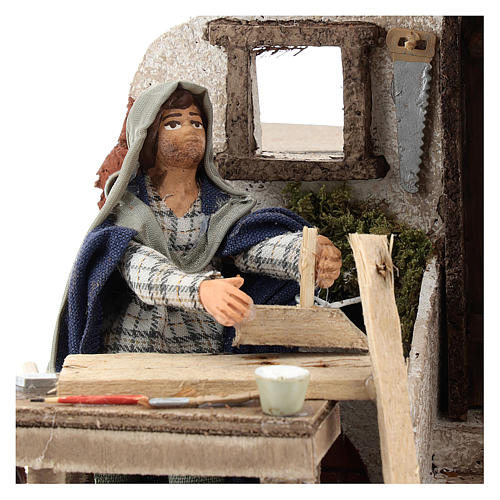 Animated carpenter 10cm Neapolitan Nativity 2