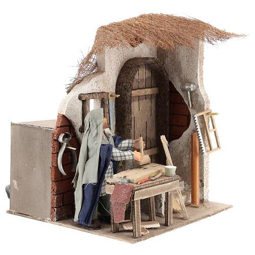 Animated carpenter 10cm Neapolitan Nativity 4