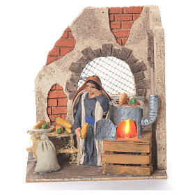 Animated woman with corn 10cm Neapolitan Nativity s1