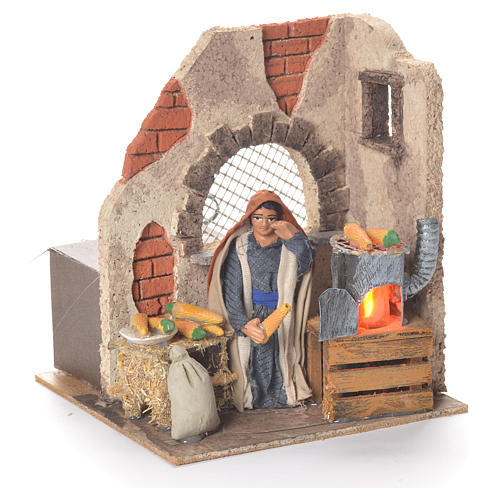 Animated woman with corn 10cm Neapolitan Nativity 2