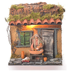 Neapolitan Nativity Scene: Animated carer 10cm Neapolitan Nativity