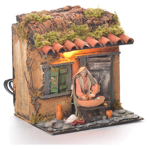 Animated carer 10cm Neapolitan Nativity 2