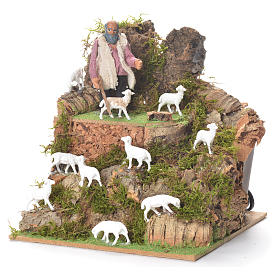 Animated man with sheep, 10cm for Neapolitan Nativity s2