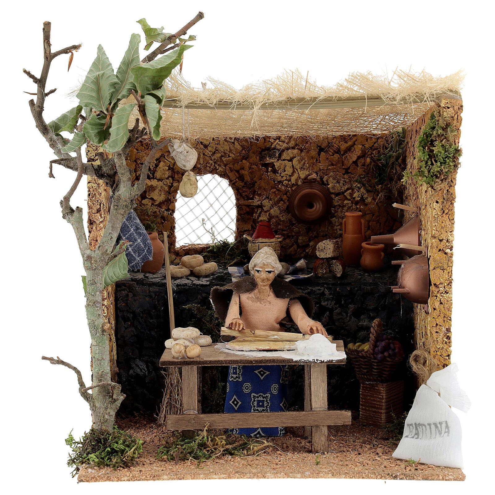 Woman kneading, 10cm for Neapolitan Nativity 4